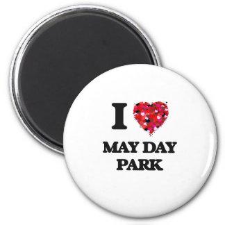I love May Day Park Alabama 6 Cm Round Magnet