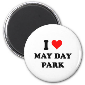 I Love May Day Park Alabama 6 Cm Round Magnet