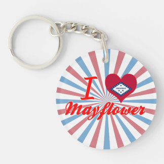 I Love Mayflower, Arkansas Single-Sided Round Acrylic Key Ring