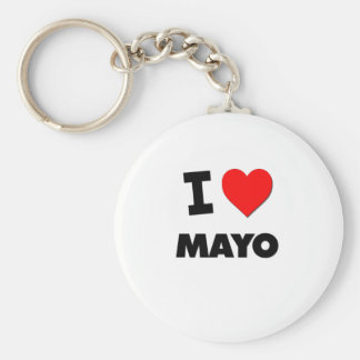 I Love Mayo Key Ring