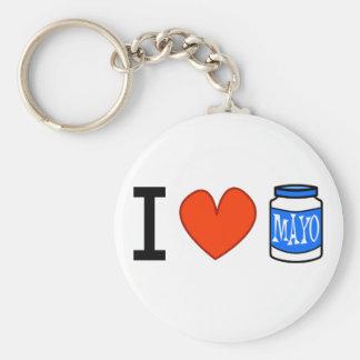 I Love Mayo! Key Ring