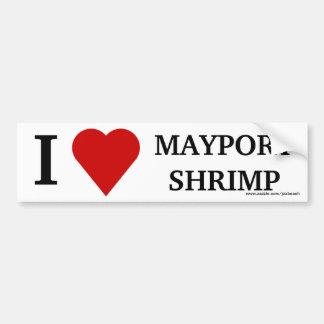 I LOVE MAYPORT SHRIMP, Bumper Sticker