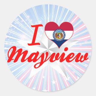 I Love Mayview, Missouri Round Sticker