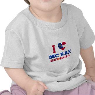 I Love Mc Rae, Georgia Tee Shirt