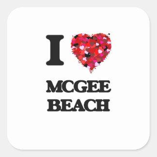 I love Mcgee Beach Texas Square Sticker