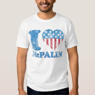 i Love McPalin Vintage McCAIM PALIN Iheart Tee Shirt