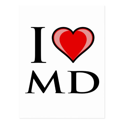I Love MD - Maryland Postcard