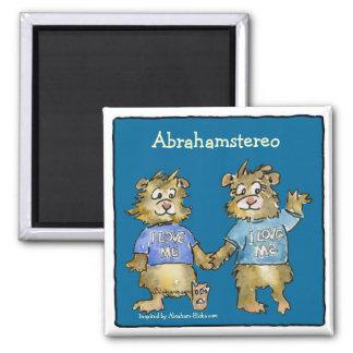 I Love Me Cartoon Hamsters Cute Magnet