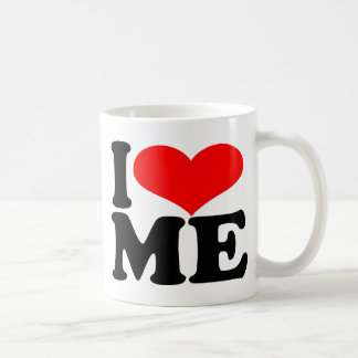 I love me coffee/tea cup basic white mug