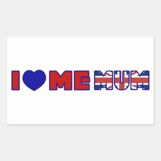 I Love Me Mum Rectangle Stickers