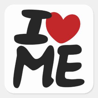 I love me square sticker