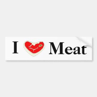 I Love Meat Bumper Sticker Car Bumper Sticker