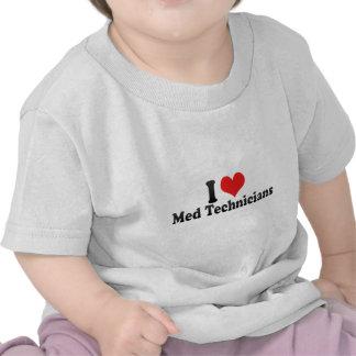 I Love Med Technicians Tee Shirts