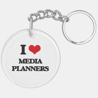 I love Media Planners Key Chain