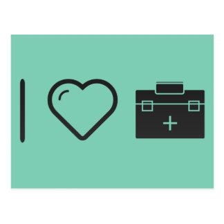I Love Medical Aids Postcard