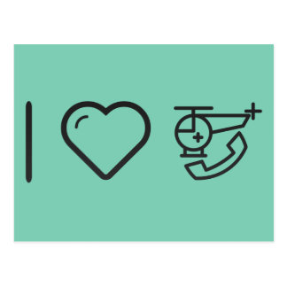 I Love Medical Assistance Postcard