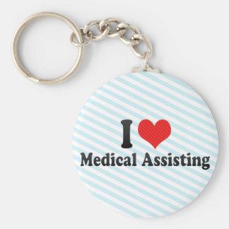 I Love Medical Assisting Key Ring