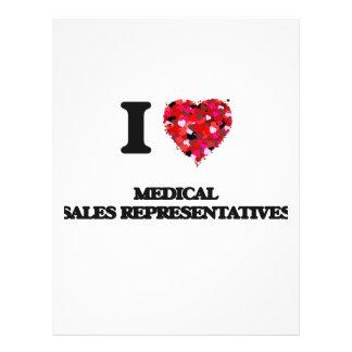 I love Medical Sales Representatives 21.5 Cm X 28 Cm Flyer