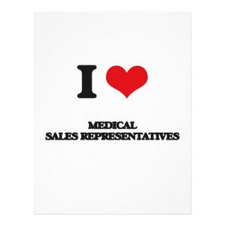 I love Medical Sales Representatives Flyer Design