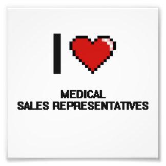 I love Medical Sales Representatives Photo Print