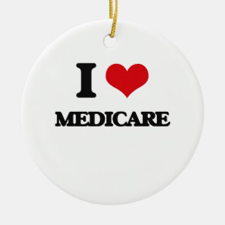 I Love Medicare Christmas Ornament