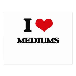 I Love Mediums Post Card