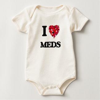I Love Meds Baby Bodysuits