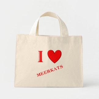 I Love Meerkats Mini Tote Bag