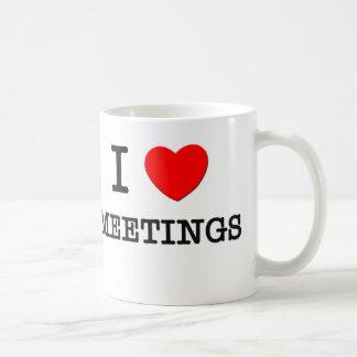 I Love Meetings Basic White Mug
