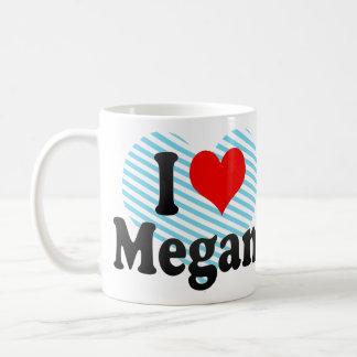 I love Megan Basic White Mug