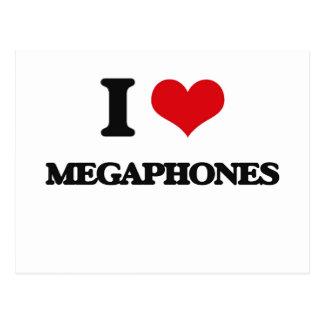 I Love Megaphones Postcard