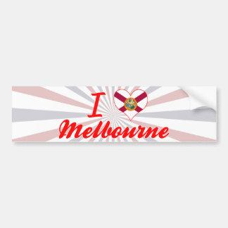 I Love Melbourne, Florida Bumper Sticker