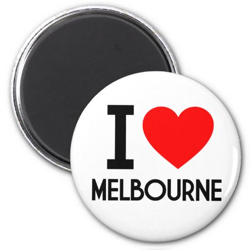 I Love Melbourne Fridge Magnets