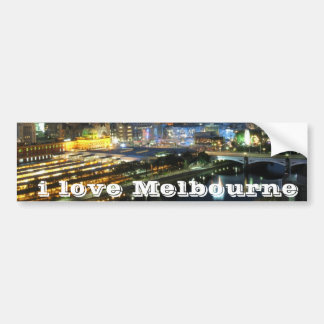 I Love Melbourne skyline bumper sticker