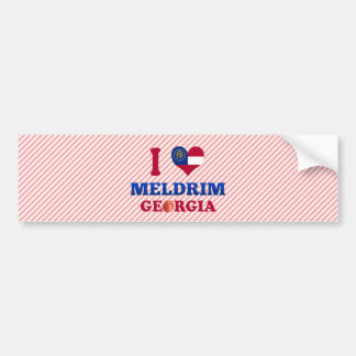 I Love Meldrim, Georgia Bumper Sticker