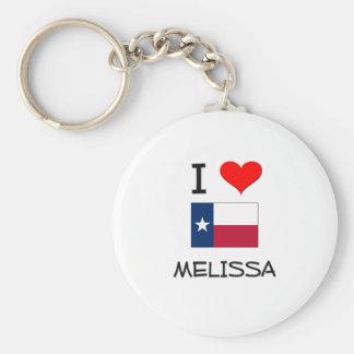 I Love Melissa Texas Basic Round Button Key Ring