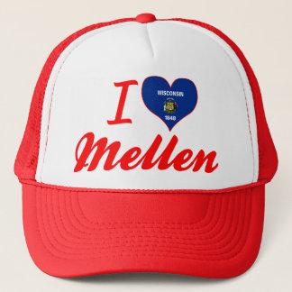 I Love Mellen, Wisconsin Trucker Hat