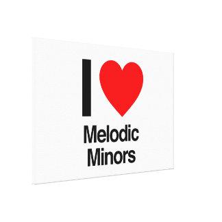 i love melodic minors canvas prints