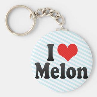 I Love Melon Basic Round Button Key Ring
