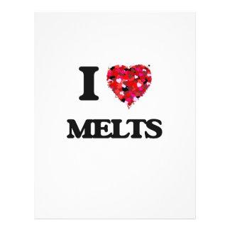 I Love Melts 21.5 Cm X 28 Cm Flyer