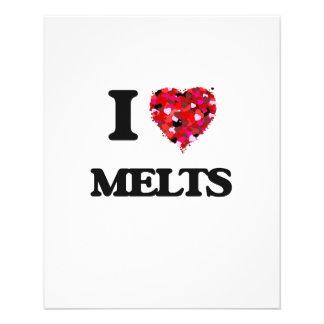 I Love Melts 11.5 Cm X 14 Cm Flyer