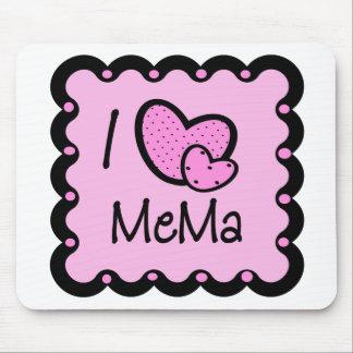 I Love Mema Cute T-Shirt Mouse Mat