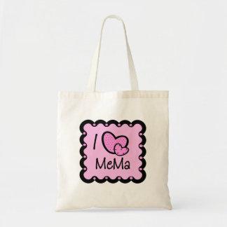 I Love Mema Cute T-Shirt Tote Bags