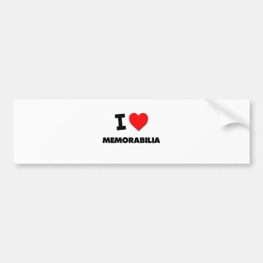 I Love Memorabilia Bumper Sticker