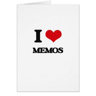 I Love Memos Cards