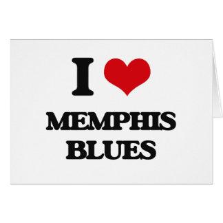 I Love MEMPHIS BLUES Cards
