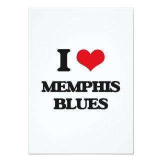 I Love MEMPHIS BLUES Personalized Announcement Cards