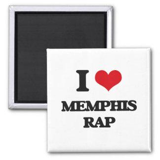I Love MEMPHIS RAP Refrigerator Magnet