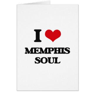 I Love MEMPHIS SOUL Greeting Card