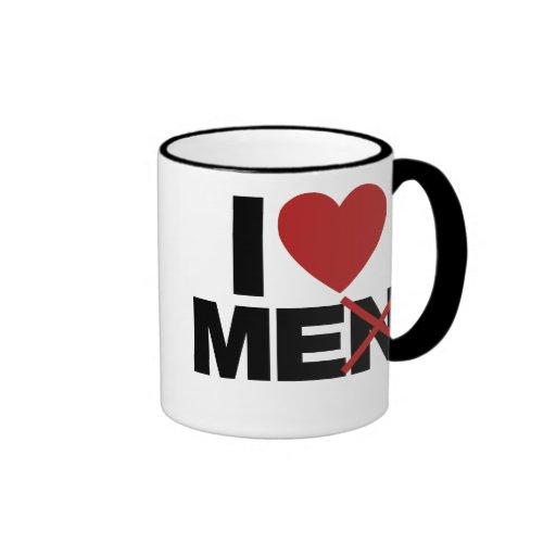 I Love Men Coffee Mugs